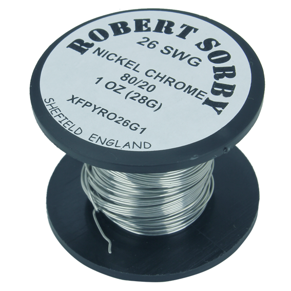 Sorby #PYRO26G1 26 SWG Nickel Chromium Reel - 1 oz.