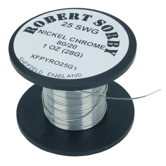 Sorby #PYRO25G1 25 SWG Nickel Chromium Reel - 1 oz.