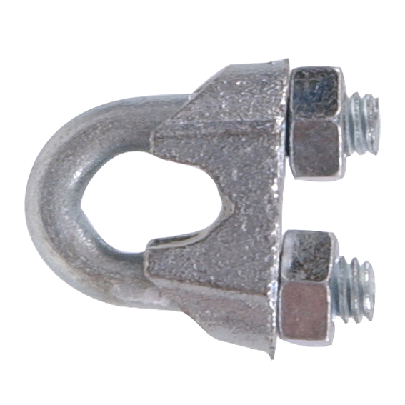 Hillman 321730 1/8 Zinc Plated Wire Rope Clip