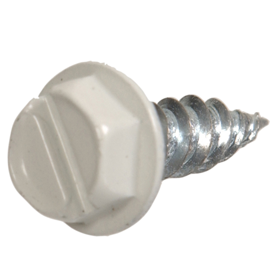 HILLMAN 9495 #7 X 1/2 WHITE GUTTER & STOVEPIPE ASSEMBLY/REPAIR SCREWS - 10 PK.