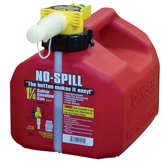 No-Spill 1.25 Gallon Gas Can