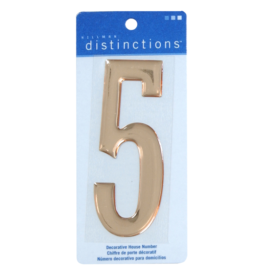 Hillman 4-Inch Gold Decorative Self-Adhesive Domed House #5, 2 Pack