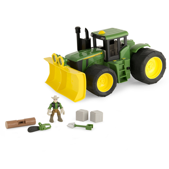 Tomy John Deere Gear Force Earth Moving Tractor