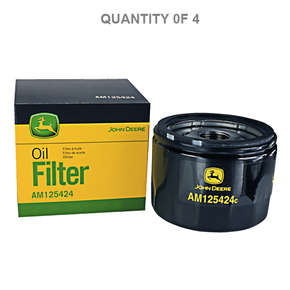 John Deere #AM125424 Oil Filters - 4 Pk.