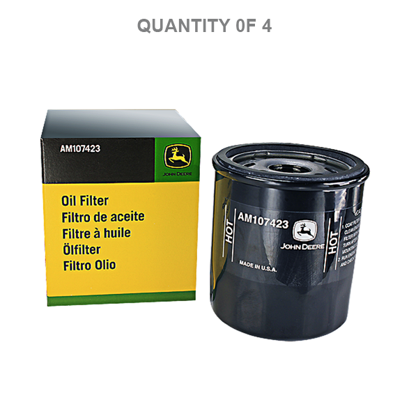 John Deere #AM107423 Oil Filters - 4 Pk.