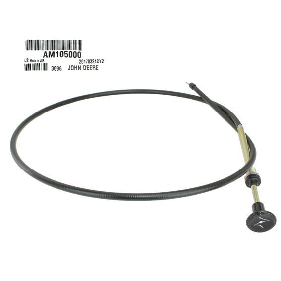 John Deere #AM105000 Throttle & Choke Cable
