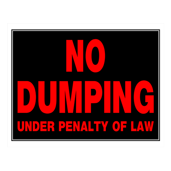 Hillman 840034 Plastic No Dumping Under Penalty Of Law Sign, 19-Inch x 15-Inch