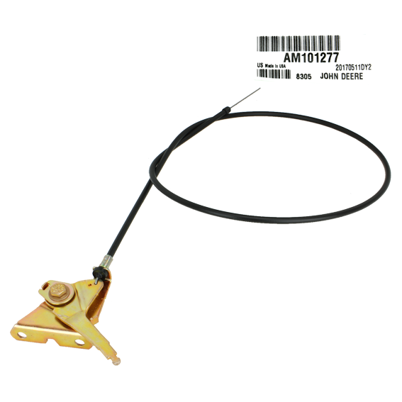 John Deere #AM101277 Control Throttle Push Pull Cable
