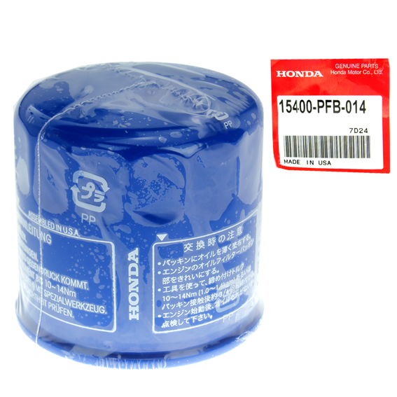 HONDA #15400-PFB-014 OIL FILTERS - 2 PK.