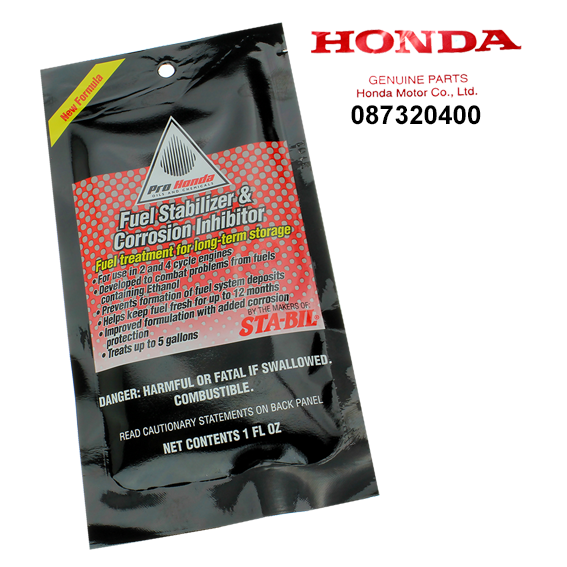Honda #08732-0400 Fuel Stabilizer & Corrosion Inhibitor, 1 oz.