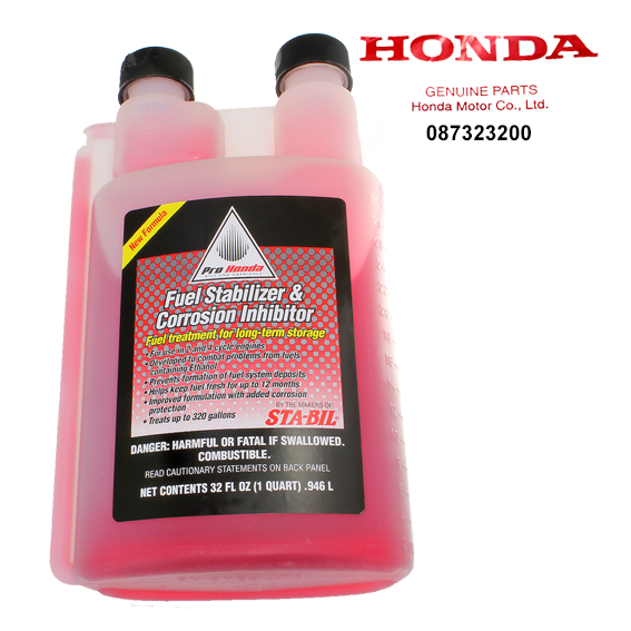 Honda #08732-3200 Fuel Stabilizer & Corrosion Inhibitor, 32 oz