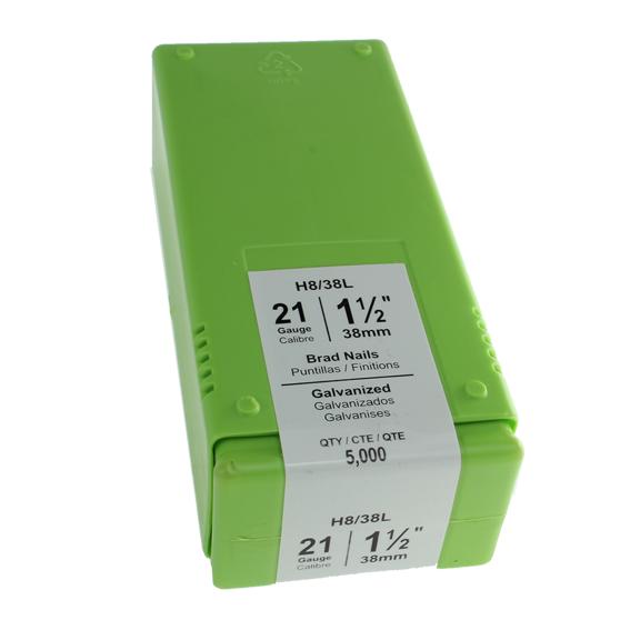 Grex #H8/38L 21 Gauge Brads - 1-1/2 Inch - 5M