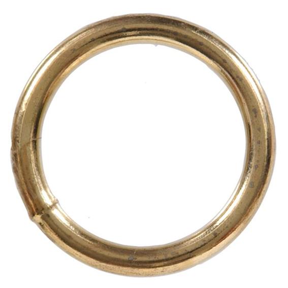 HILLMAN 321702 1-1/2 INCH BRASS PLATED WELDED STEEL RING