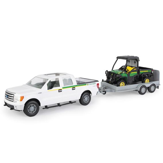 Tomy John Deere Big Farm 1:16 Scale Ford F150 4x4 Pickup Truck & Trailer With 825I Gator