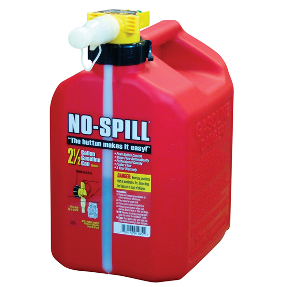No-Spill 2.5 Gallon Gas Can