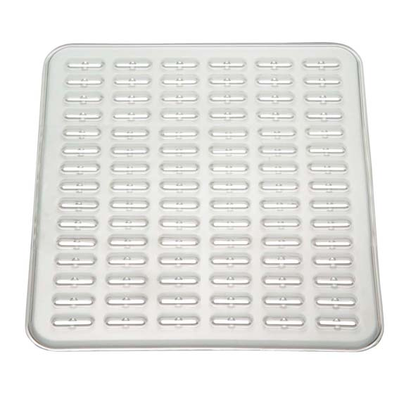 Interdesign 49980 Synchware Large Sink Mat, Clear