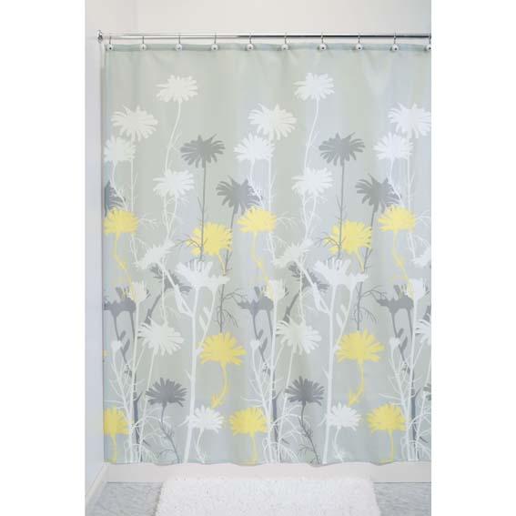 Interdesign 39221 Daizy Fabric Shower Curtain