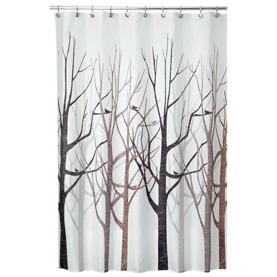 Interdesign 45020 Forest Fabric Shower Curtain