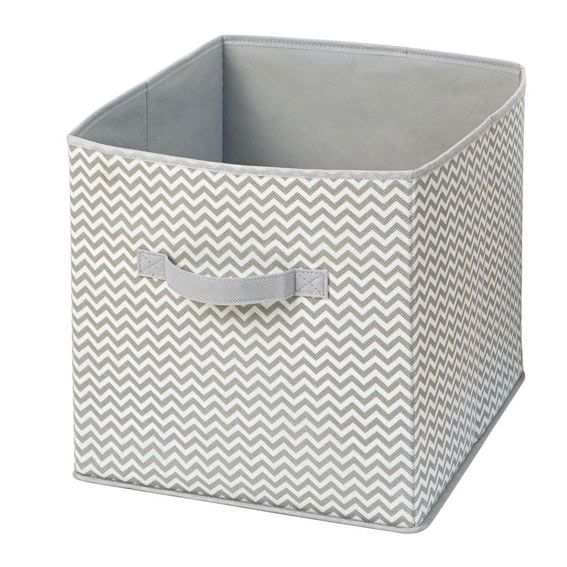 Interdesign 04281 Axis Fabric Storage Cube, Taupe/Natural