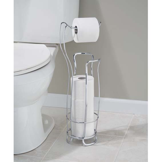Interdesign 55662 Axis Toilet Paper Roll Holder Plus - Chrome
