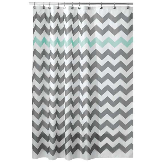 Interdesign 43023 Chevron Fabric Shower Curtain