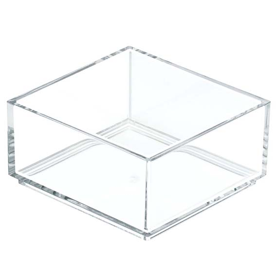 Interdesign 49710 Clarity Modular Stackable Drawer Organizer, 4 x 4
