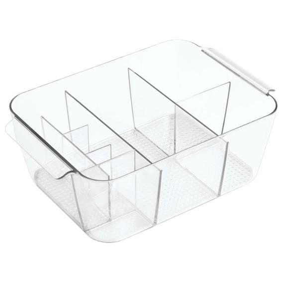 Interdesign 35870 Clarity Divided Cosmetic Bin