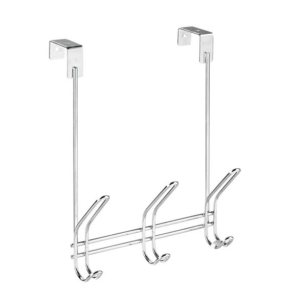 Interdesign 49312 Classico 3 Hook Over-The-Door Rack