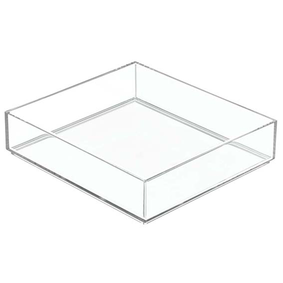 Interdesign 49640 Clarity Modular Stackable Drawer Organizer, 8 x 8