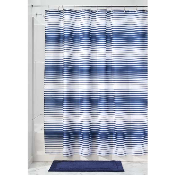 Interdesign 35520 Zeno Fabric Shower Curtain