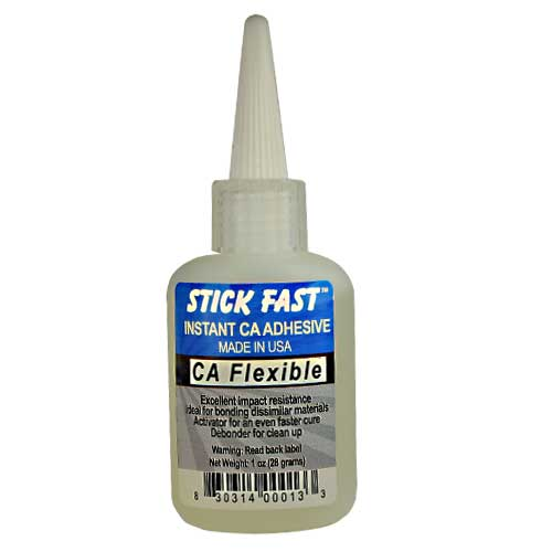 Stick Fast Clear Flexible CA Glue, 1 ounce