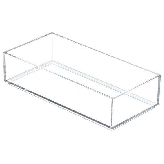 Interdesign 49670 Clarity Modular Stackable Drawer Organizer, 4 x 8
