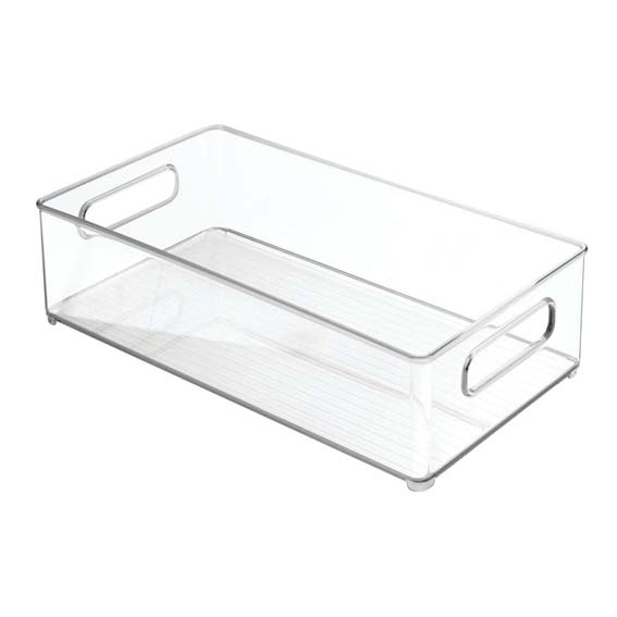 INTERDESIGN 70530 FRIDGE & FREEZE STORAGE BINZ 4 INCH X 8 INCH DEEP BIN