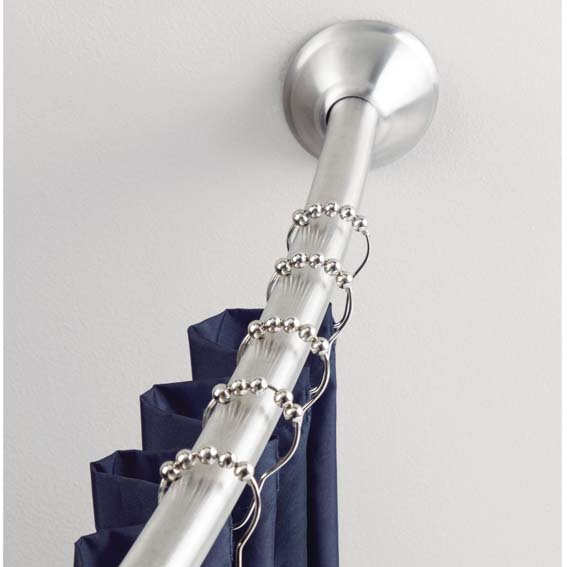Interdesign 76572 Rollerz Shower Curtain Rings, In Use
