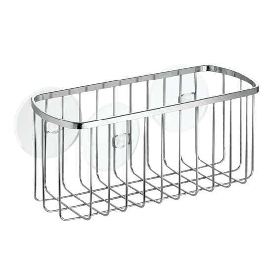 Interdesign 69002 Gia Suction Shower Basket, Chrome