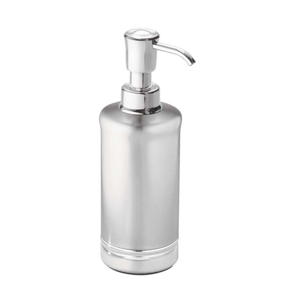 Interdesign 76350 York Pump Soap Dispenser, Split Finish