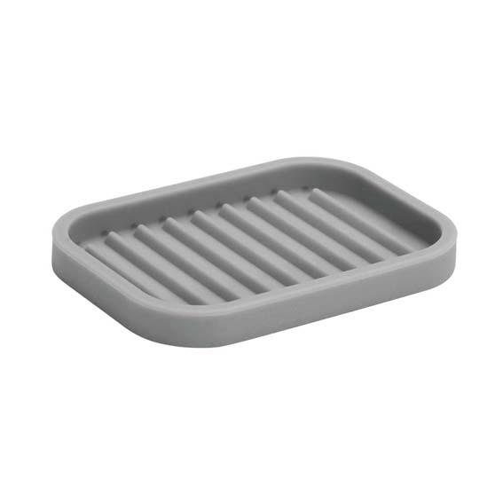 Interdesign 64383 Lineo Gray Silicone Soap Dish
