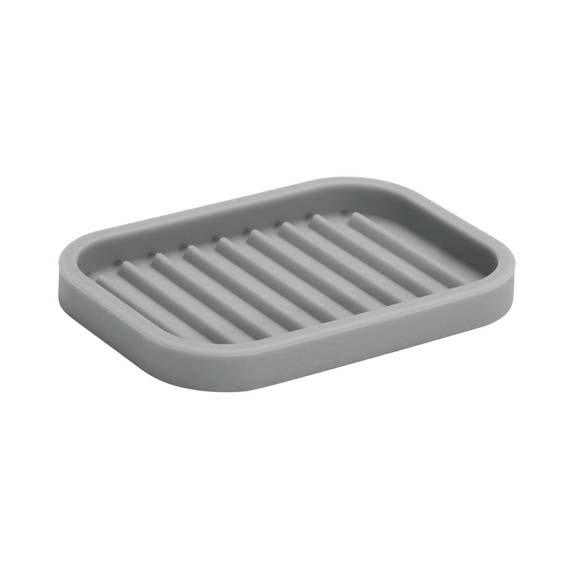 Interdesign 64383 Lineo Gray Silicone Soap Dish