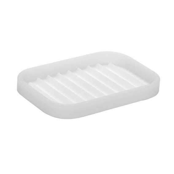 Interdesign 64380 Lineo Clear Silicone Soap Dish