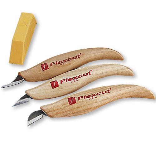 FLEXCUT #KN400 SLIM HANDLE DETAIL KNIFE SET