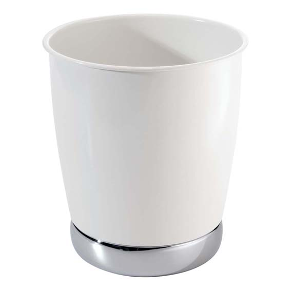 Interdesign 74721 York Waste Can, White