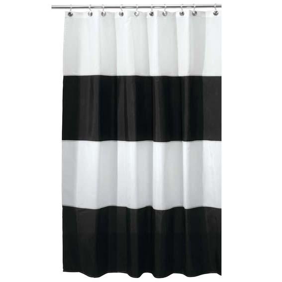 Interdesign 26910 Zeno Fabric Shower Curtain