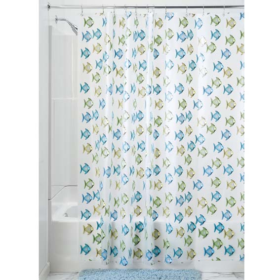 Interdesign 27780 Fishy Peva Shower Curtain