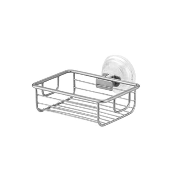 Interdesign 24029 Classico Power Lock Suction Soap Dish - Silver