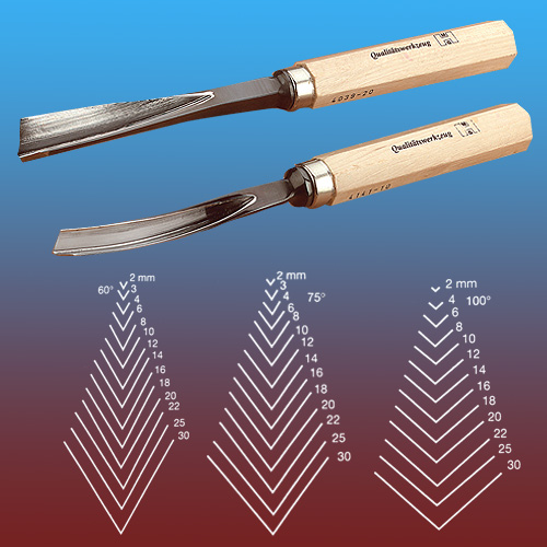 MHG #45 100 Degree Straight V-Part Carving Tool - 4mm