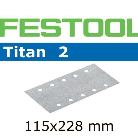 Festool 492739 Titan 2  P100 Sheet Abrasive - 115mm x 228mm - 100 Pk.