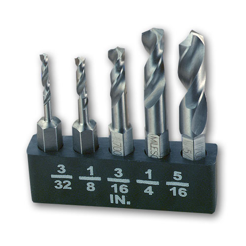 MILESCRAFT #2320 5 PC  METAL STUBBY BIT SET