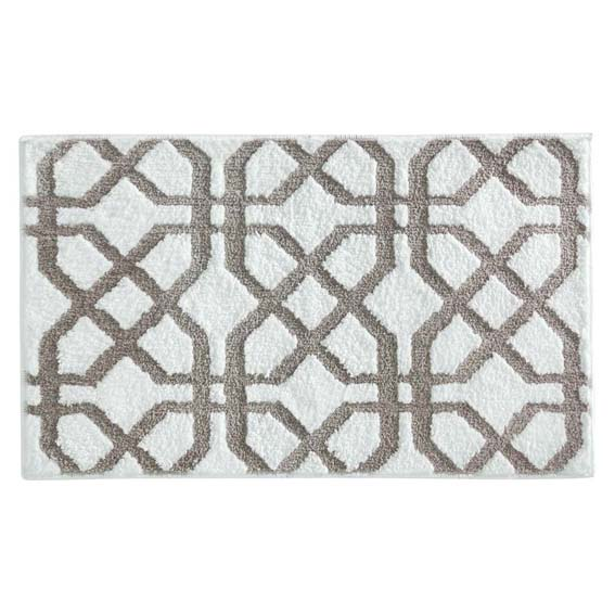 Interdesign 19040 Trellis Accent Rug, Stone
