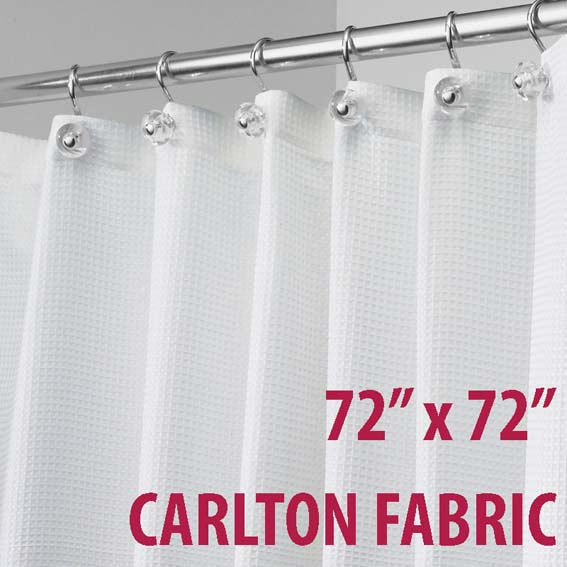 Interdesign 22780 Carlton Fabric Shower Curtain