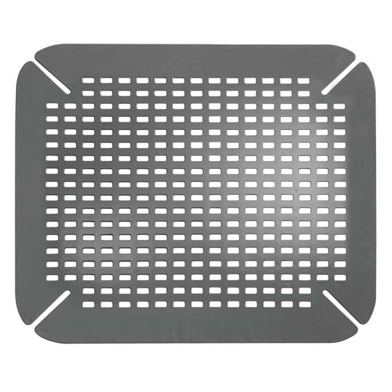 Interdesign 59062 Sinkworks Contour Sink Saver Mat - Charcoal